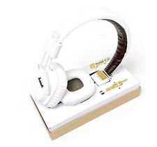 White Pro Remote Mic HIFI Marshall Major Headphone Noise Cancelling Deep Bass
