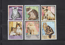 Laos 1983 Domestic Cats Sc 493-498   complete  mint never hinged
