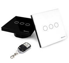 Sesoo REMOTE Touch switch 3 Gang / Glass Panel White