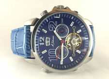 USED M. JOHANSSON BLUE MENS AUTOMATIC WRIST WATCH G-LatosLSBL