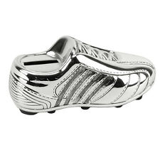 SILVER PLATED FOOTBALL BOOT MONEY BOX  BABY/CHRISTENING GIFTS