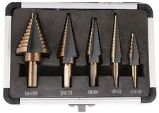 5pcs/Set HSS Cobalt Multiple Hole 50 Sizes Step Drill Bit Set Lathe CNC Drilling