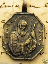 Catholic Carmelite Nuns RARE St Francis of Assisi & Our Lady of the Rosary Medal