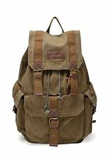 Gootium 21101AMG Specially High Density Thick Canvas Backpack Rucksack, Army Gre