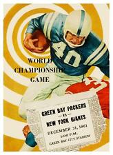 Green Bay Packers vs NY Giants *LARGE POSTER* 1961 Football NFL Vince Lombardi