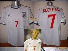 England Shirt Jersey XL BECKHAM Vintage Umbro Football Soccer Soccer Man Utd 00