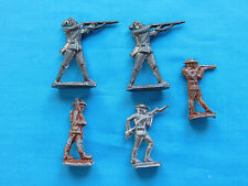 TOY SOLDIERS INDIANS LEAD ANTIQUE INFANTRY RIFLE LOT OF 5