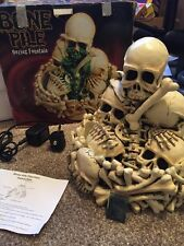 Rare 2003 Bone Pile Oozing Fountain W/ Box HALLOWEEN DECOR VERY NEAT