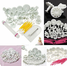 47pcs Sugarcraft Cake Decorating Kit Set Fondant Icing Plunger Tools Mold Mould