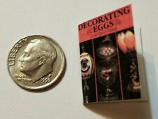 Miniature Dollhouse  Barbie 1/12 Scale Book Jewelry Cartier Faberge Eggs Decor