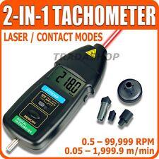 Tachimetro Digitale Laser Contagiri Ottico e Contatto 99.999 RPM