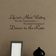 Dance In The Rain Quote Wall Sticker Home Removable Inspiring Saying Wall Decal