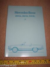 Mercedes Benz 280SL 300SL 500SL 1984 German CAR BROCHURE Catalogue UK English