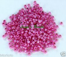 8/0 Round TOHO Glass Seed Beads #2106- Silver-Lined Milky Mauve 15 grams