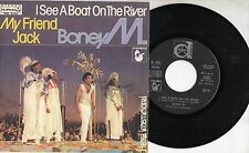 BONEY M disco 45 g. I SEE A BOAT ON THE RIVER Made in ITALY 1980 MY FRIEND JACK
