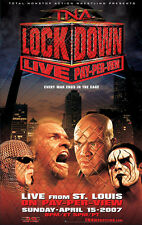 Official TNA Impact Wrestling 38 x 24 inch Lockdown 2007 PPV Poster