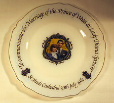 Lady Diana & The Prince Of Wales Commemorate Wedding Plate, Arc Arcopal, France