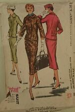 """Vintage 1950s Sewing Pattern McCall's 3918 Misses' Instant Suit Size 12 B 31"""""""