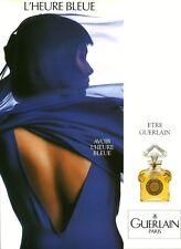 Publicité ancienne Parfum l'Heure Bleue Guerlain non parfumé