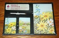 Hoyle Bridge Giftpack Double Deck & Score Pad SUNFLOWERS - NEW Sealed