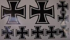Eisernes Kreuz Aufkleber Set 6 teilig Schwarz TOP