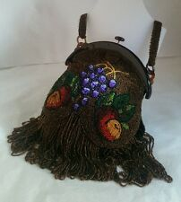 An antique hand sewn micro-bead Evening bag. Circa 1910..20's