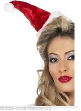 Women's Ladies Mini Santa Hat on Headband Christmas Party Novelty Xmas Fun Sexy