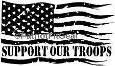 Support Our Troops,American Flag,USMC,Navy,Army,USAF,USCG,Military,Vinyl Decal