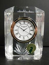 NEW WATERFORD CRYSTAL COLONNADE DESK CLOCK VALENTINE'S DAY GIFT