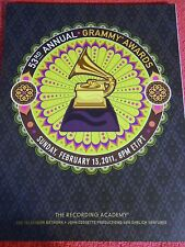 2011 53RD ANNUAL GRAMMY AWARDS PROGRAM BRUNO MARS LADY GAGA KATY PERRY BIEBER