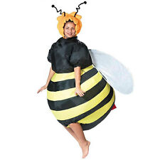 Adult Bumble Bee Inflatable Costume Airblown Honey Bee Outfit Halloween Dress