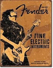 Fender Fine Electric Instruments metal wall sign (de)