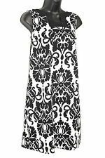 NEW ALYX Dress Black & White Damask Shift Career Dress Adorable Neckline Size 4