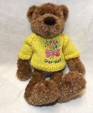 "Gund Bear Celebration #1676 Get Well New 12"" Tall"