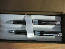 Cross Limited Edition Beverly Black and Chrome Ballpoint Pen & 0.7mm Penci Set