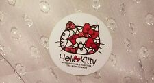 1-7/16in Hello Kitty Sticker SILLOUETTE bow bring hearts together tied w/ ribbon
