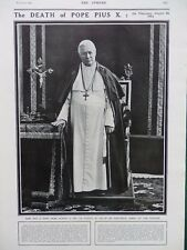 1914 DEATH OF POPE PIUS X;  WOMEN IN WAR TIME, CAR NEWS WW1 WWI
