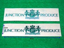"New 2pcs Silver Color 3D ""JUNCTION PRODUCE"" VIP Style Car Sign Decal Sticker"