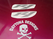 R1 SILVER SIDE FAIRING PANEL CUSTOM PAIR GRAPHICS DECALS STICKERS
