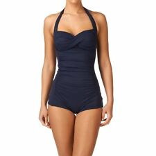 Seafolly Goddess Boyleg Malliot indigo us size 10 AU 14 new with tags swimsuit