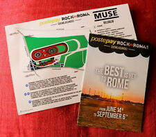 MUSE Fold out ROCK IN ROMA festival mini programme + info press flyer Italy 2015