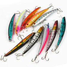 10pz Esche Artificiali Per Pesca Spinning Mare Fiume Laghi Minnow Fishing Lures