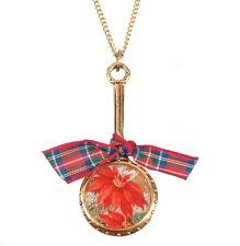 MAXIMAL ART John Wind NECKLACE Christmas Poinsettia Gold New Jewelry