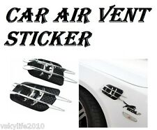 2 Universal Car Side Air Flow Vent Fender Air Net Door Decals Auto Sticker DIY