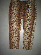 LOVE BYTES Jeggings Plus Skinny 'Jean Look' Pants Tight Fit ANIMAL Leopard 2X