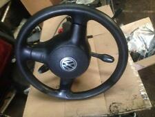 VW POLO 6N2 2000 SDI 5 DR STEERING WHEEL, COLUMN, SWITCHES, BARREL AND KEY