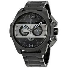 Diesel Ironside Chronograph Black Dial Black Ion-plated Mens Watch DZ4362