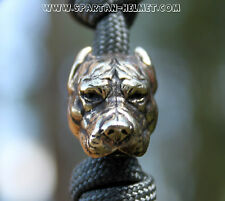 CAST PITBULL BEAD FOR PARACORD LANYARD BUSSIE KNIVES