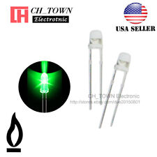 50pcs 3mm Water Clear Green Light Candle Flicker Flickering Blink LED Diodes USA