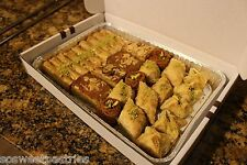2 LB OF ASSORTED SMALL BAKLAVA TRAY OF WALNUT, ALMOND AND PISTACHIOS